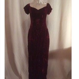 Vintage Velvet Jordan Evening Dress/Gown